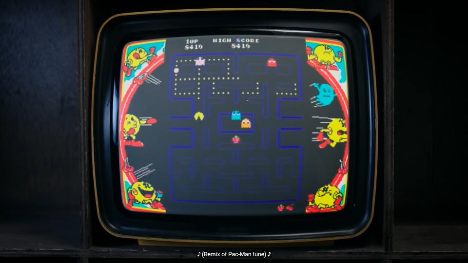 Schermata di gioco di Pacman.
